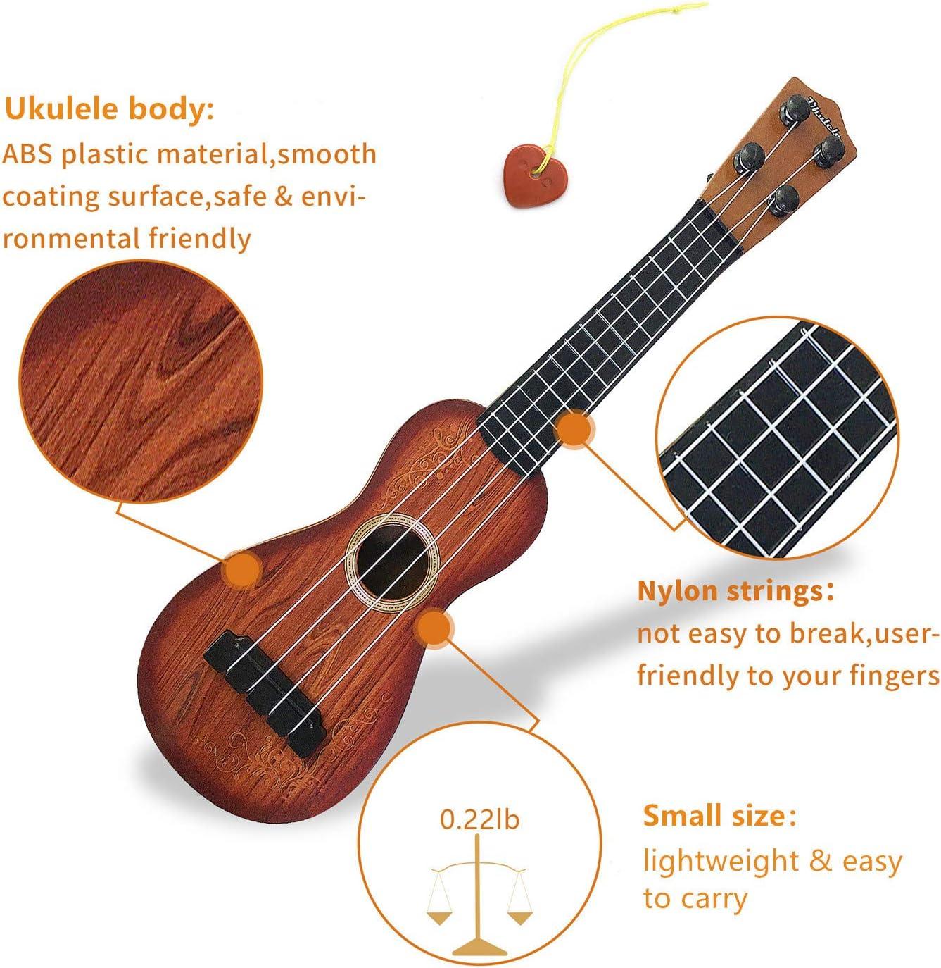 Satisfounder 15 Inch Kids Guitar Ukulele Toys 4 Strings Mini ...