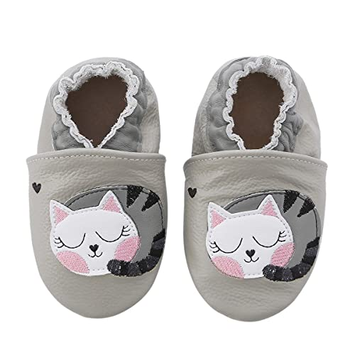 3a22dd177 Unicorn Baby Moccasins Girl and Boy Soft Leather Toddler First Walker Shoes  0-6-