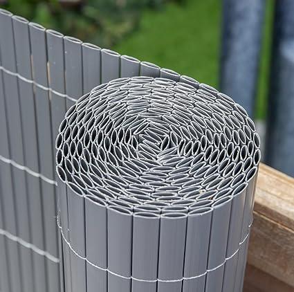 Rotolo di paravento da giardino, in canne di bambù artificiali, per ...