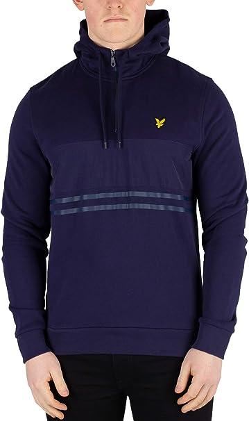 Pullover Uomo con 1//4 Cerniera Felpa Sweater