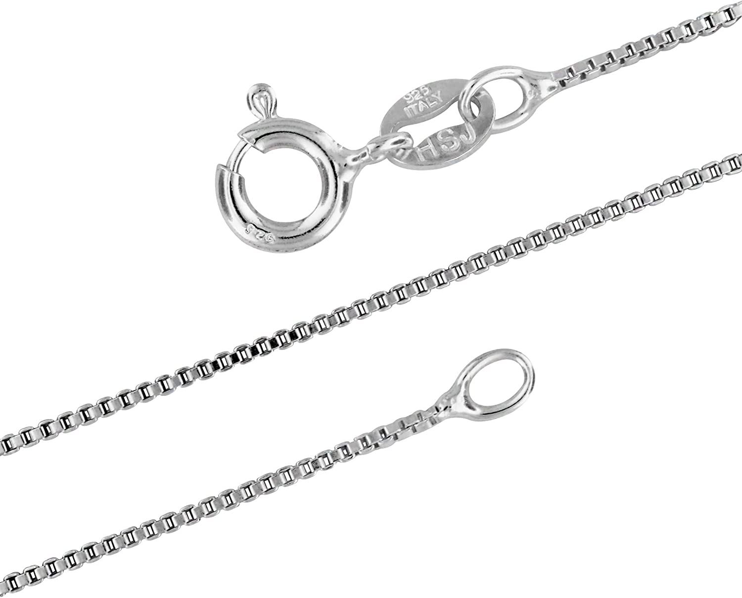 """Beautiful 20/"""" Real Sterling Silver 925 Box Chain Necklace 1mm Quality Lot H3"""