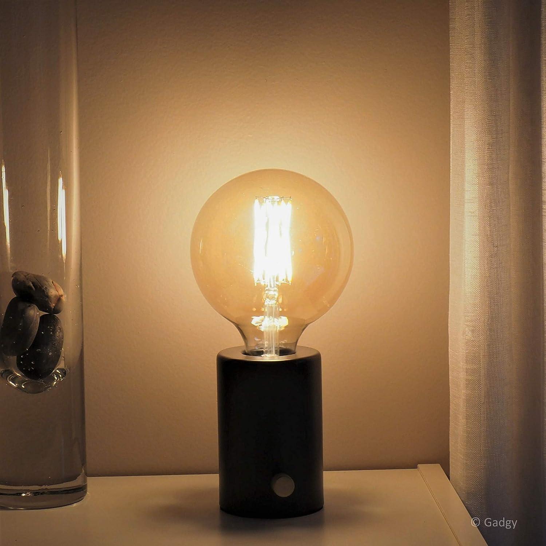 ® Mesa RegulableColor NegroRetro Vintage Gadgy Led Moderno Lámpara De Diseño Bombilla Industrial Con E Edison nOP0wk