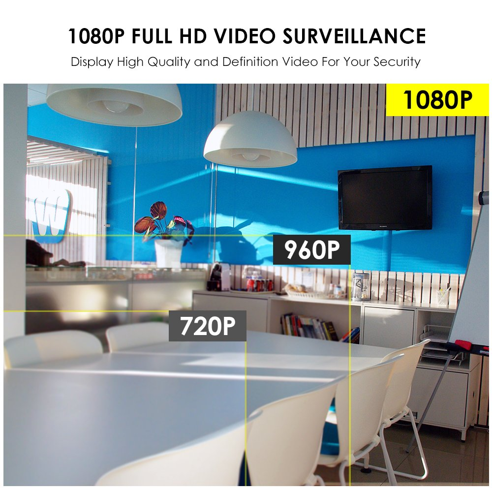 Amazon.com : ZOSI Full 1080P HD Wireless Surveillance Camera System 4CH 1080P NVR Wireless Video Security System, 4PCS HD 2.0 Megapixel 1080P WiFi ...