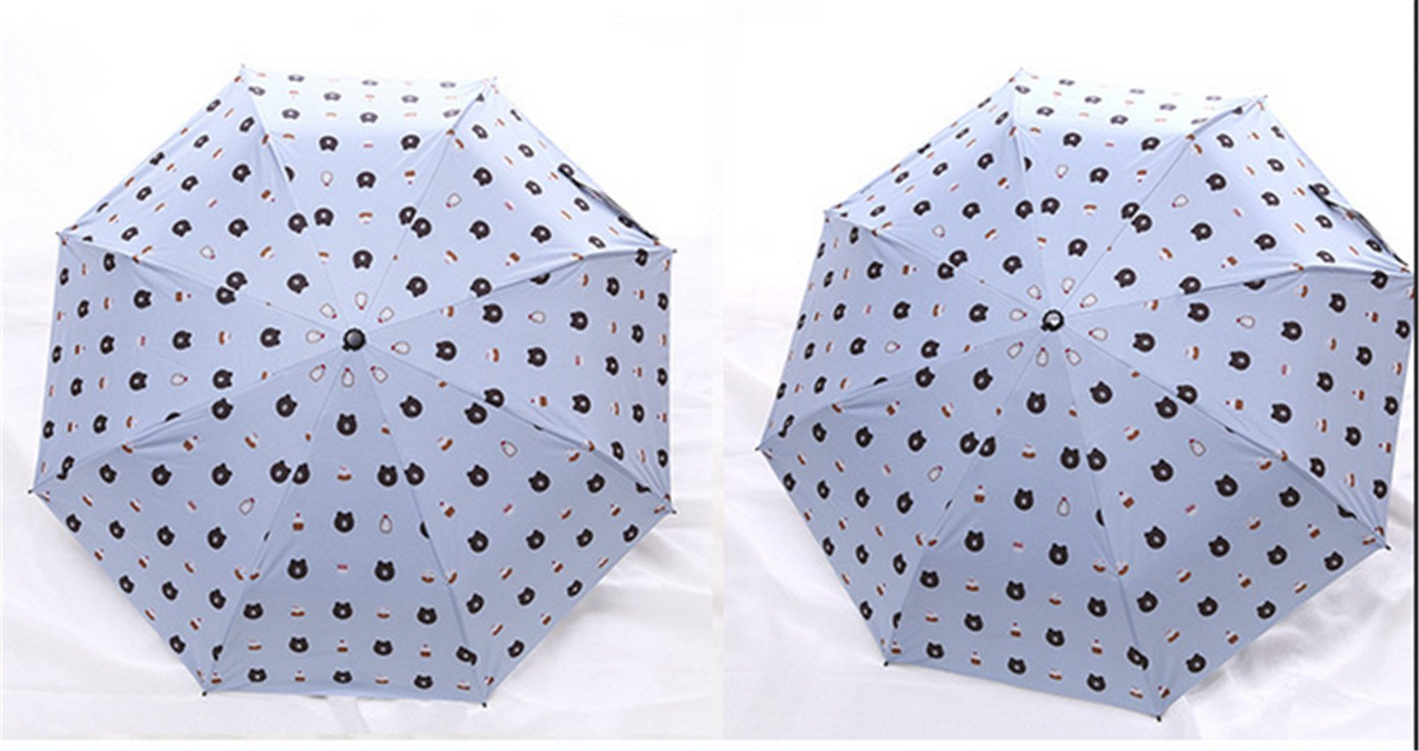 GKRY Fashion Art Umbrella/Windproof Travel Umbrellas/Folding Umbrella/for Business and Travels/SPF 352+ SUN RAIN Umbrella/RAIN Umbrella The ultra fine umbrella blue sky. by GKRY Home (Image #2)