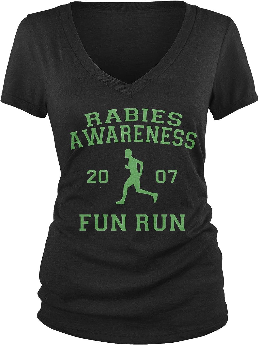 Amdesco Junior's The Office Rabies Awareness Fun Run 2007 V-Neck T-Shirt