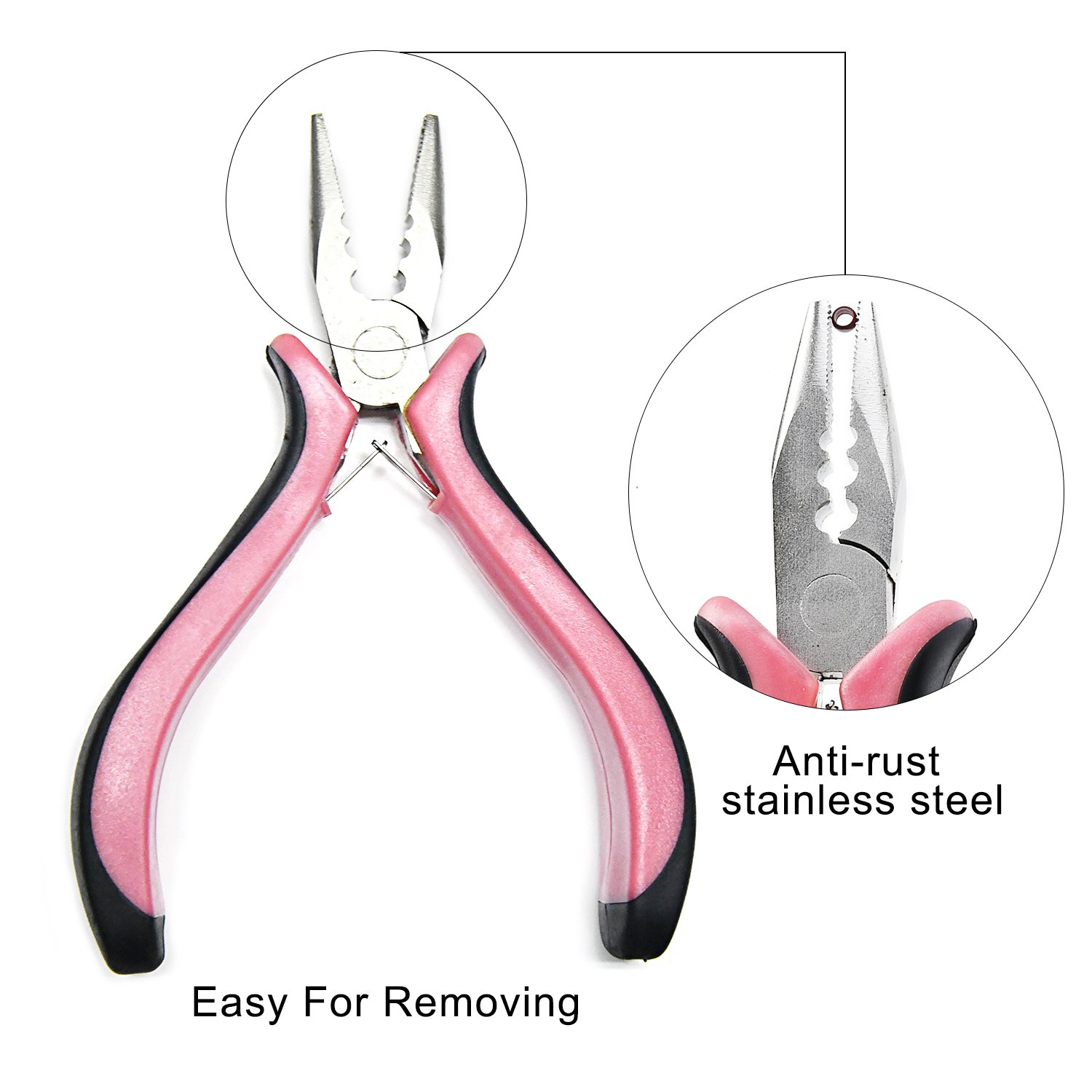 Neitsi 3 Holes Mini Plier For Micro Nano Ring Hair Extensions opener and Removal Tool