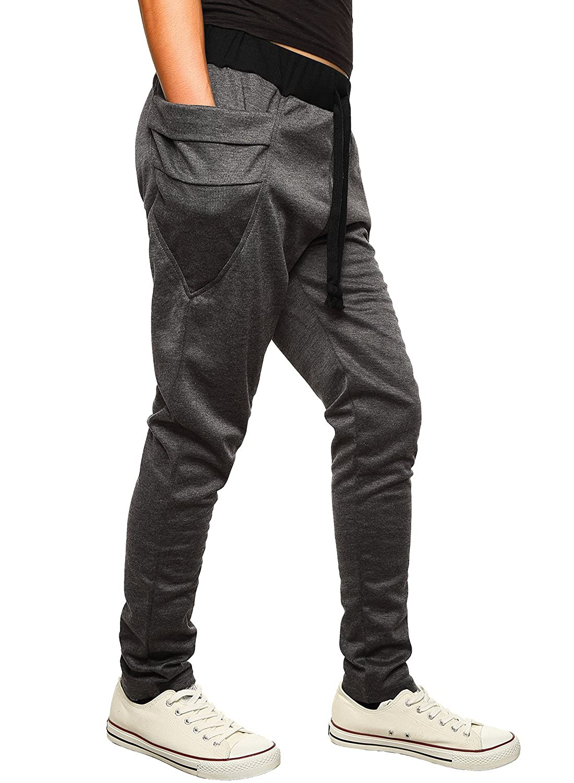 b9fbda12b3c01 HEMOON Homme Pantalon de Sport Jogging Sarouel Fitness Loose Crotch Pants:  Amazon.fr: Vêtements et accessoires