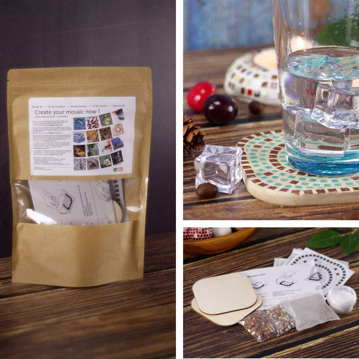 white /& black Mosaic Craft Kit,a pair of Coaster