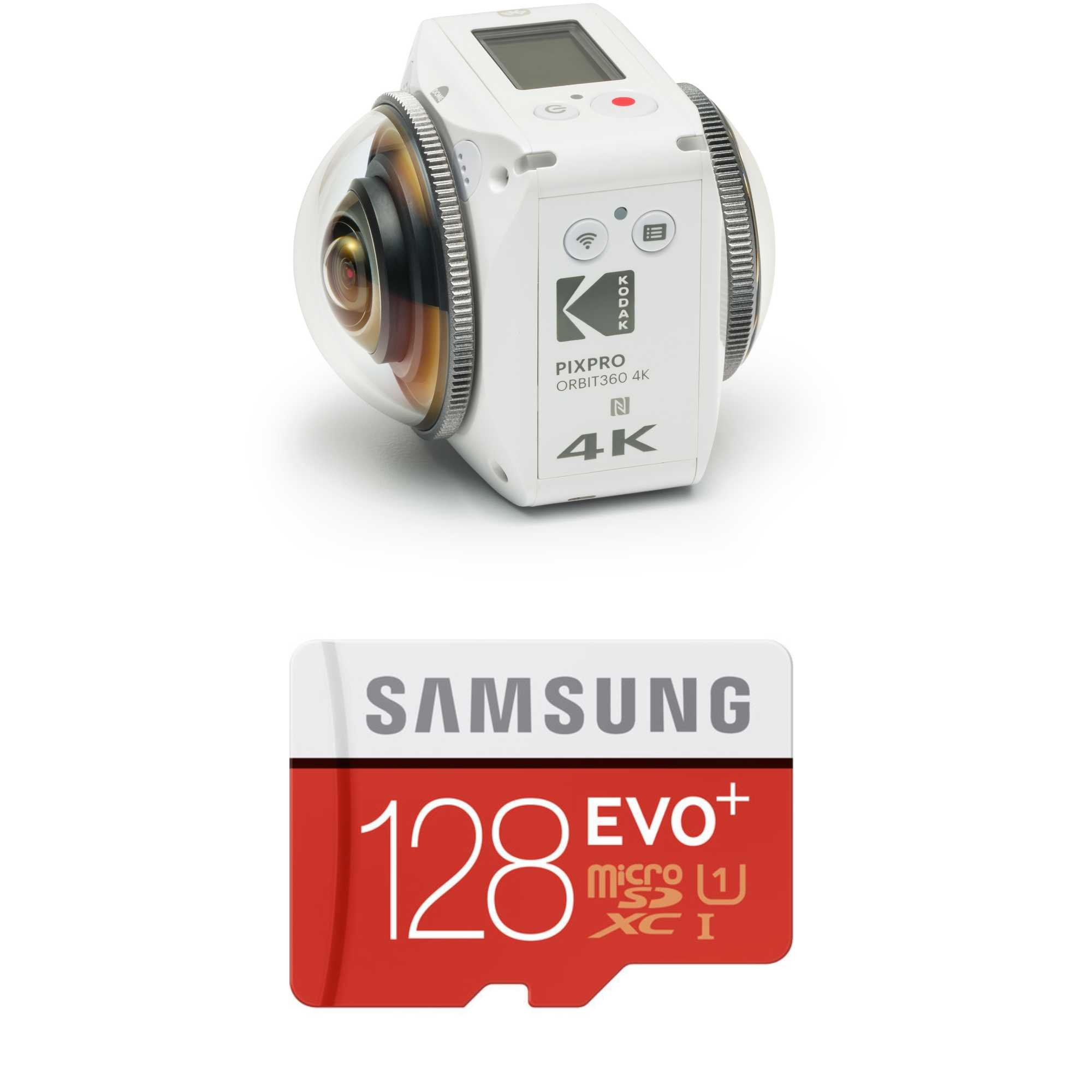 KODAK PIXPRO ORBIT360 4K 360° VR Camera Adventure Pack 128GB Bundle