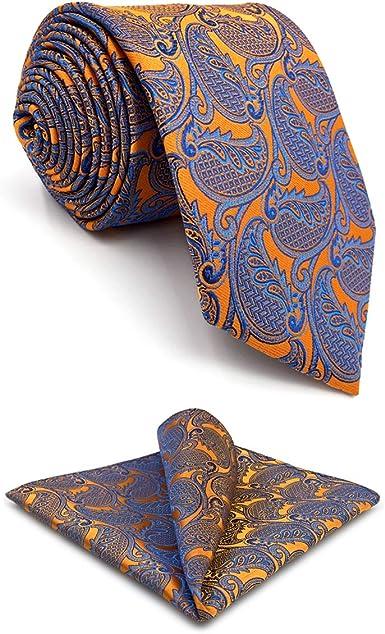 shlax/&wing Cl/ásico Hombre /único Seda Corbatas Para Amarillo Cachemir Extra largo