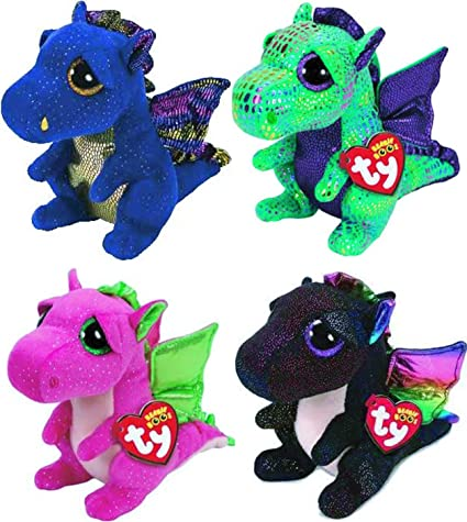 Amazon.com  Ty Beanie Boos 4 Piece Dragon Set  Cinder 7816b7983f80