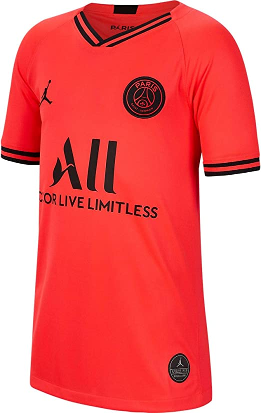 Amazon Com Nike Youth Paris Saint Germain Psg X Jordan 2019 20 Away Soccer Jersey Infrared Clothing
