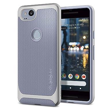 quality design d2b34 147a7 Spigen [Neo Hybrid] [Kinda Blue] Case for Google Pixel 2, Flexible Inner  Protection and Reinforced Hard Bumper Frame Phone Cover for Pixel 2 Case ...