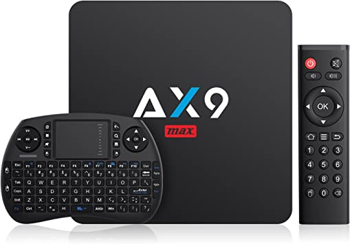 Android TV Box- TICTID AX9 MAX TV Box con Mini Teclado inalámbirco con touchpad 2GB/16GB EMMC Quad-Core 64-bit Cortex-A53 2.4G WiFi/ H.265 DLNA /4K Smart TV Box: Amazon.es: Electrónica