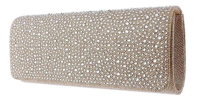 Hot Style Zone - Cartera de mano para mujer Beige champán M: Amazon.es: Ropa y accesorios