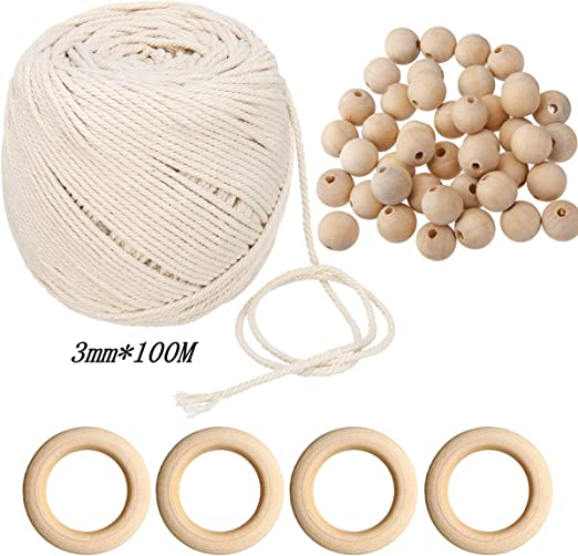 cable de macrame, macrame naturales cuerda de Bohemia de cuerda de ...