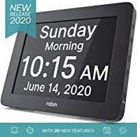 Robin, 2020 Version, Digital Day Clock 2.0 with Custom Alarms and Calendar Reminders...