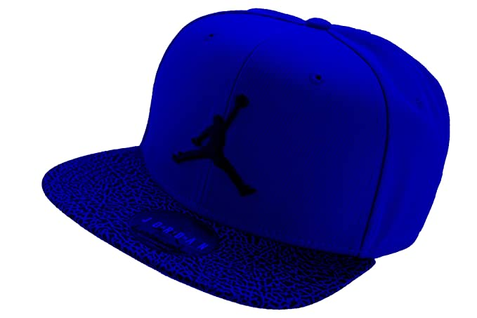 cfd65e53e9079 NIKE Mens Air Jordan Elephant Bill Snapback Hat (Royal Blue Black ...