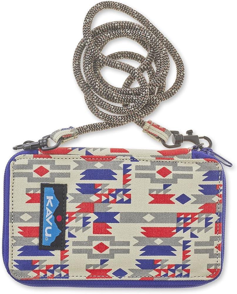 KAVU Go Time Bi-Fold Crossbody Wallet with Rope Strap