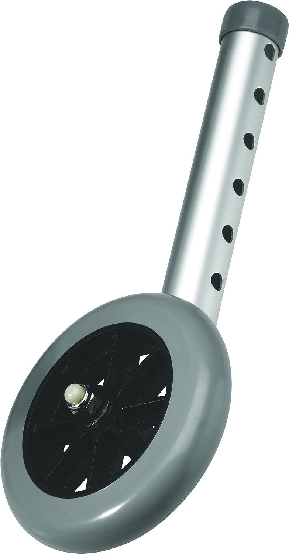 Carex 5 Inch Walker Wheels - Walker Wheels Replacement Set - Wheels for Walker, Includes 2 Wheels: Health & Personal Care
