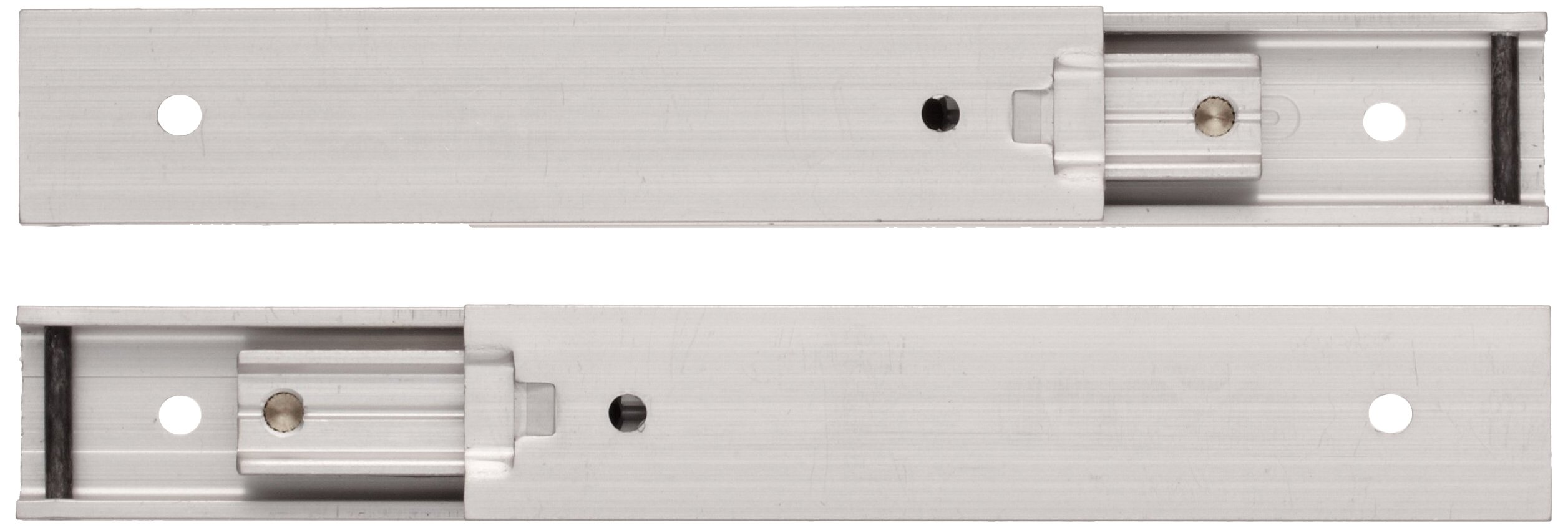 Sugastune AR3-16 Aluminum Drawer Slide, Full Extension, Positive Stop, 3-9/64'' Closed, 3-1/32'' Travel, 8.8 lbs/Pack Ld Cap (1 Pair)