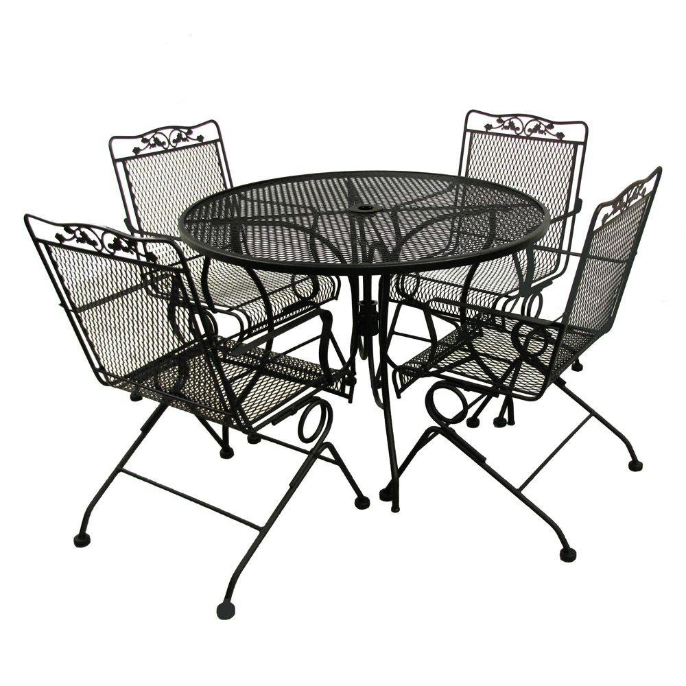 Glenbrook Black Patio Action Chair 2-Pack