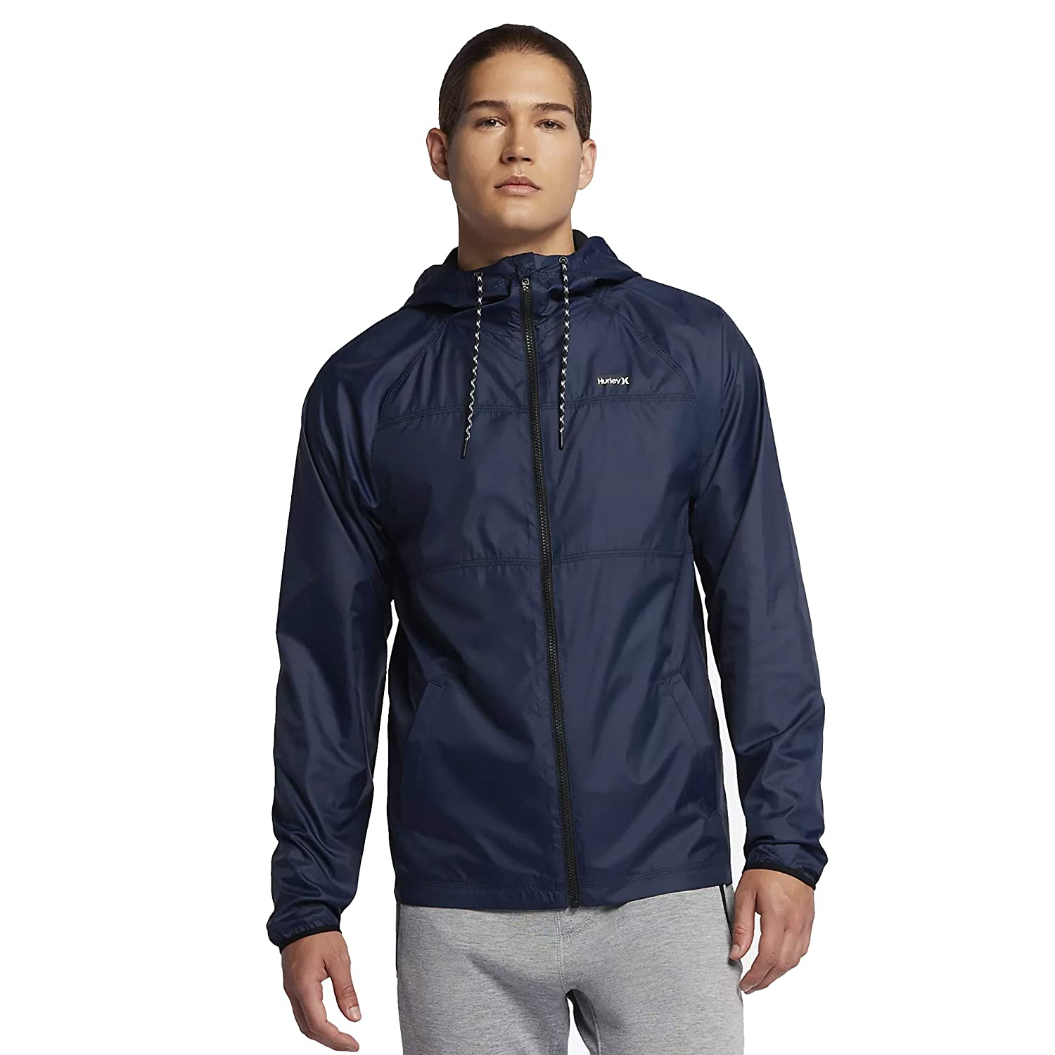 fc32e2945dd Amazon.com  Hurley MJK0002160 Men s Protect Solid Jacket  Clothing