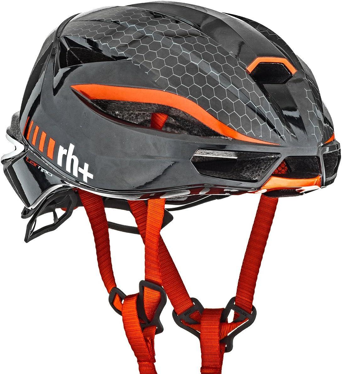 rh+(アールエイチプラス) ヘルメット ランボ [LAMBO] JCF公認 EHX6077 シャイニーブラック/シャイニーレッド XS/M