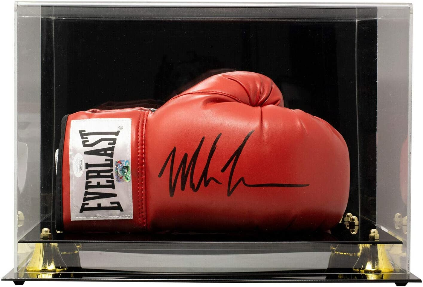 Mike Tyson Signed Everlast Boxing Glove Presented In An Acrylic Case