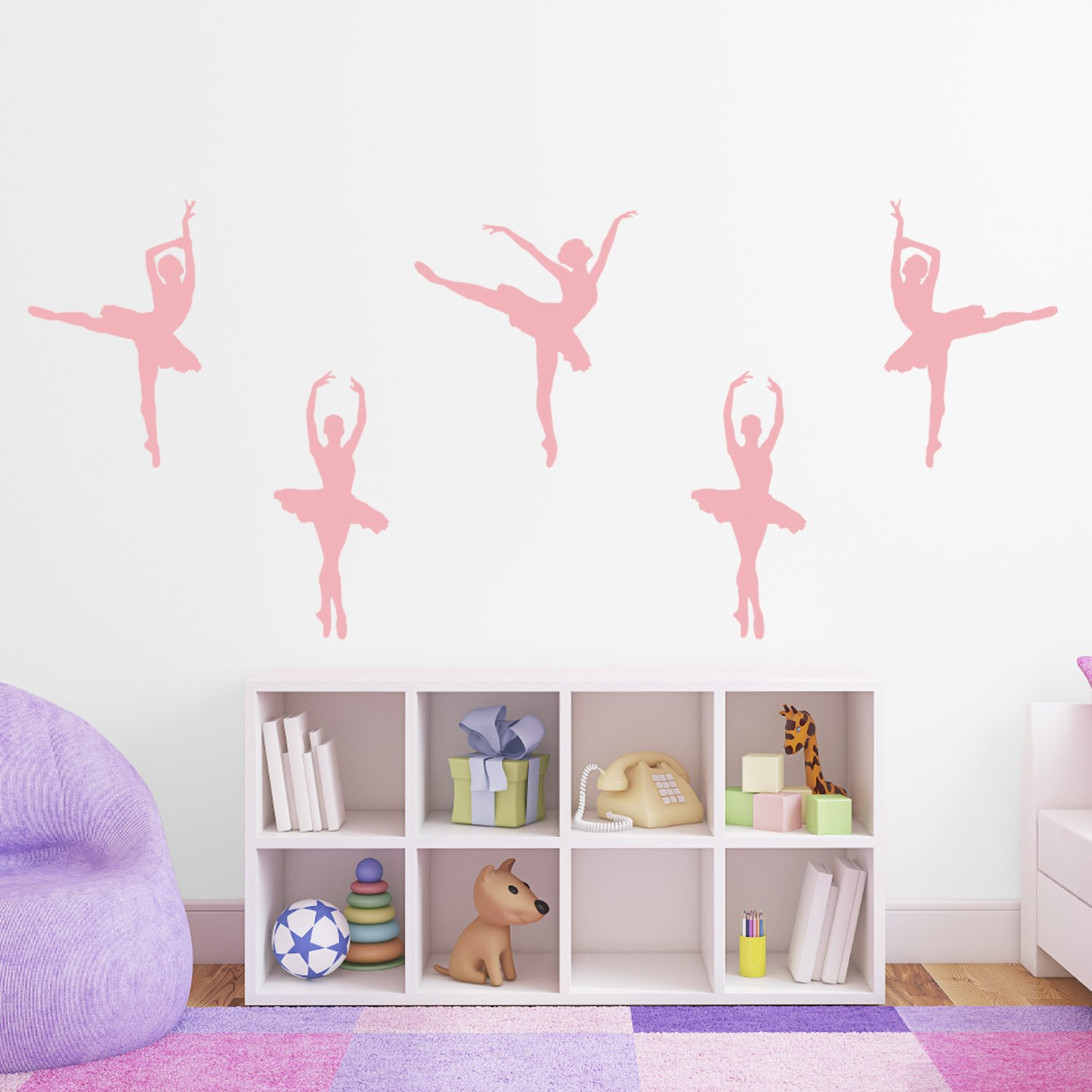 Set Of 5 Ballet Dancer / Ballerina Wall Stickers   Several Colours And Sizes Part 67