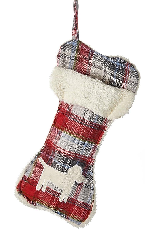 Amazon.com: Telluride Dog Bone Christmas Stocking, Red Plaid 18 inch ...