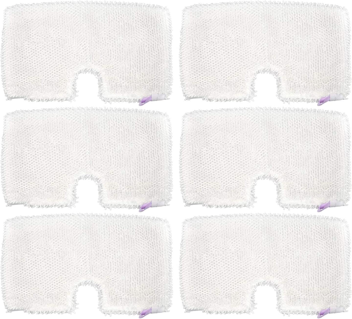 Extolife 6 Pack Washable Microfiber Steam Mop Pads Replacement for Shark Steam Pocket Mops S3501 S3601 S3550 S3801 S3901 S3601D S3801CO S3901D S3455K S2902 SE450