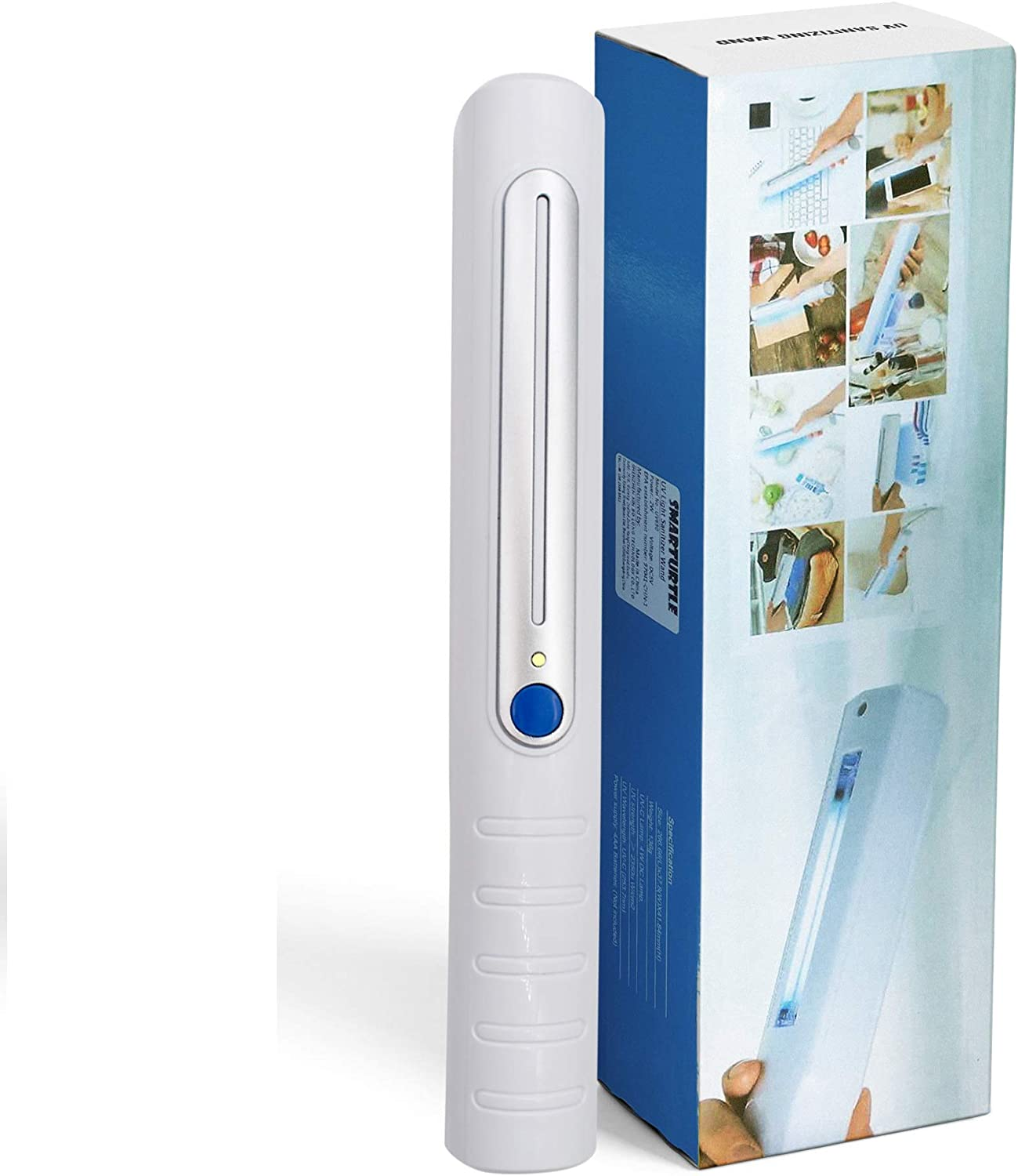 UV Light Sanitizer Portable Wand Travel UV-C Light Handheld sterilizer lamp Hand Ultraviolet Light Sanitizer Uv Sanitizer Light desinfection for Hotel Toilet Office Car