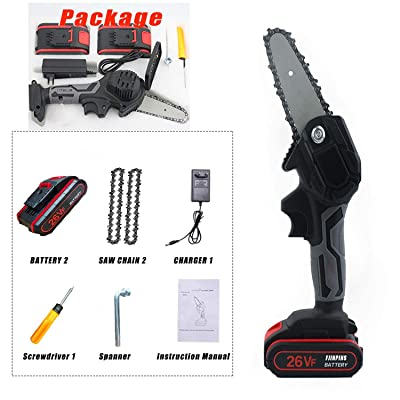 4 Inch Electric Cordless Chain Saws 26V Battery One Hand Handheld ...