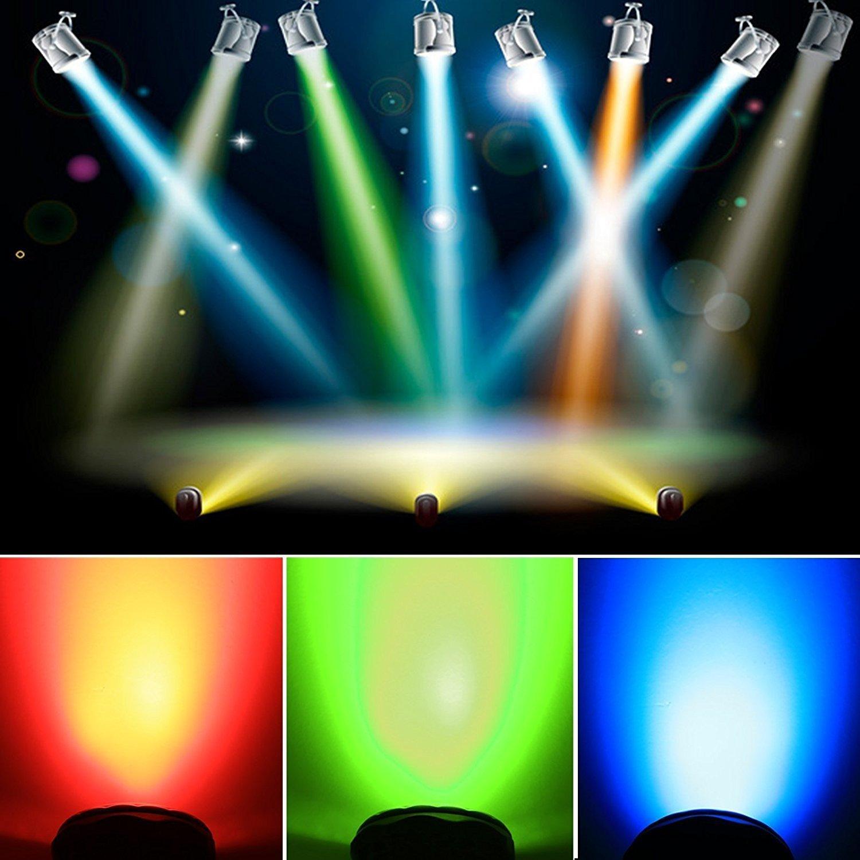 Maxmer Lampe de Sc/ène 150W Lumi/ère de Stade Eclairage Soir/ée pour KTV Bar DJ Disco Lumi/ère dAtmosph/ère Ampoule Boule Cristal /à Commande Sonore Chargeur EU