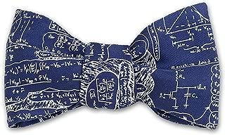 product image for Josh Bach Men's Scientific Formulas Self-Tie Silk Bow Tie in Blue, Made in USA