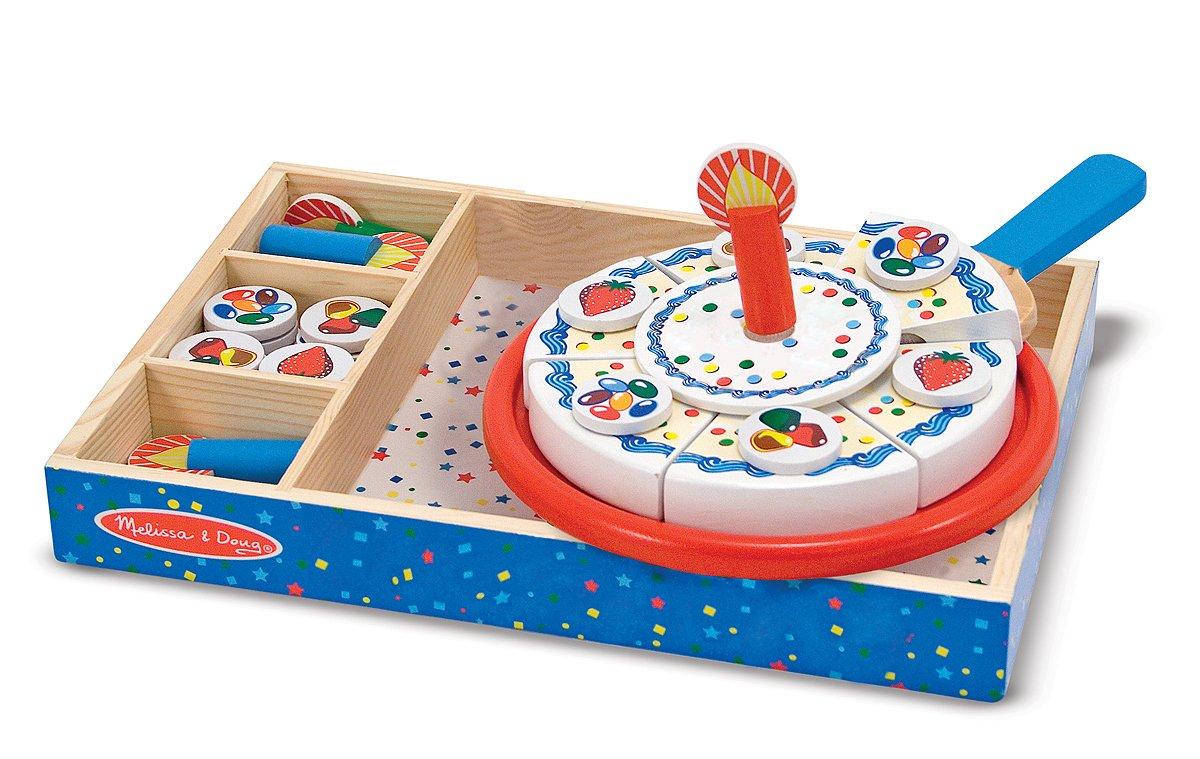 Amazon Melissa Doug 10511 Wooden Birthday Cake Toys Games