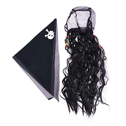 Amazon.com: Pirate Wig Cosplay Peluca Headwear Halloween ...