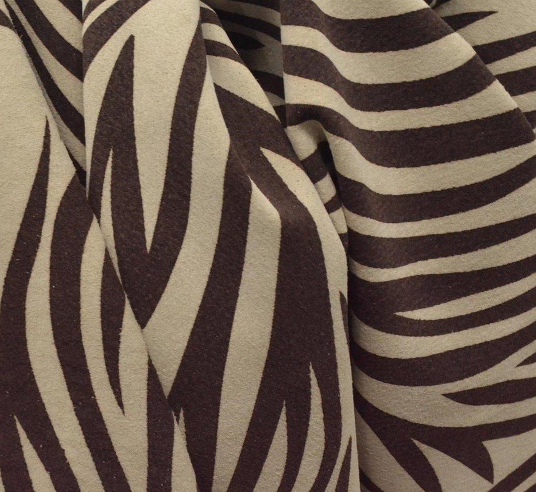 ファッションレザー豚革13.3 SF Zebra 's変装1 – 1 1 /2 oz印刷onスエード- 12 B07CQT9L1S