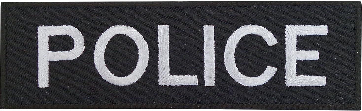Disfraz de oficial de policía parche bordado Sew de hierro en insignia policía: Amazon.es: Hogar