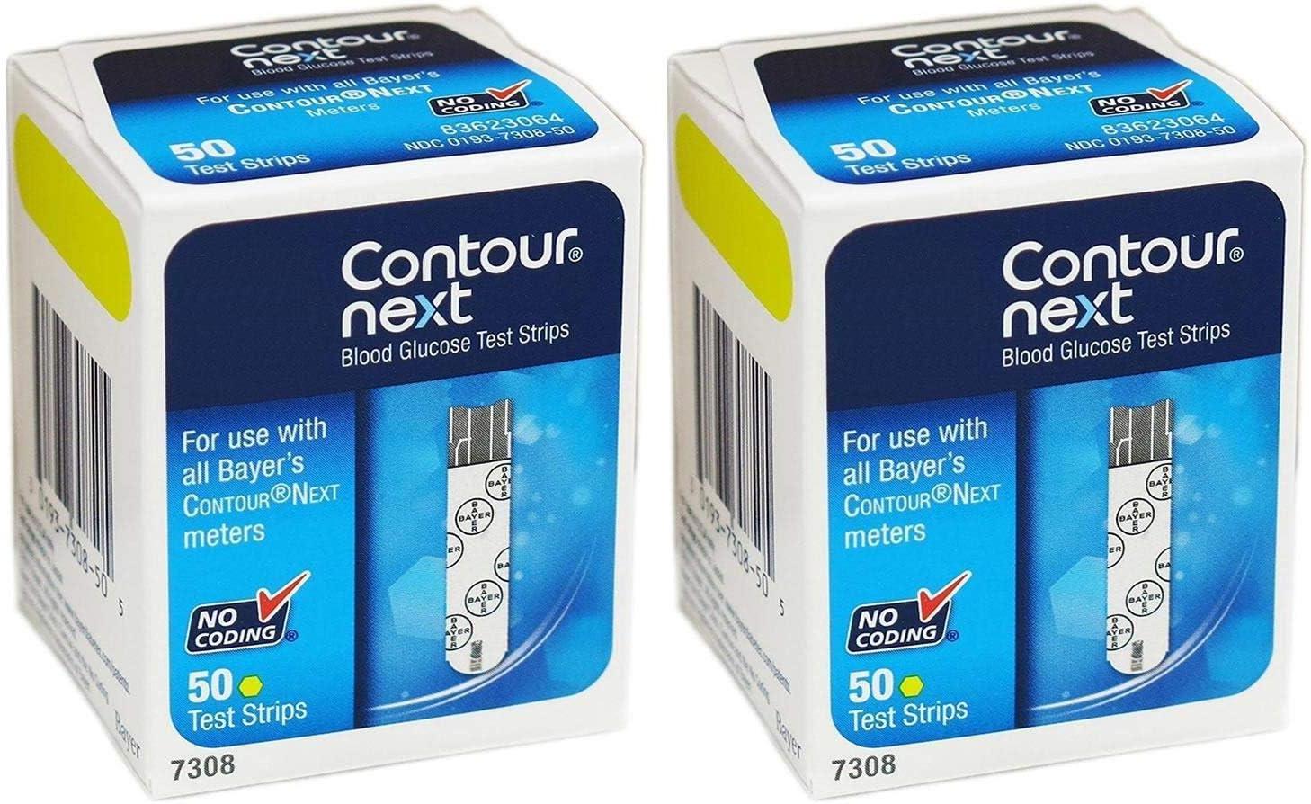 Contour-Next Bayer Contour Next - Tiras de prueba de glucosa en sangre, 100 Ea