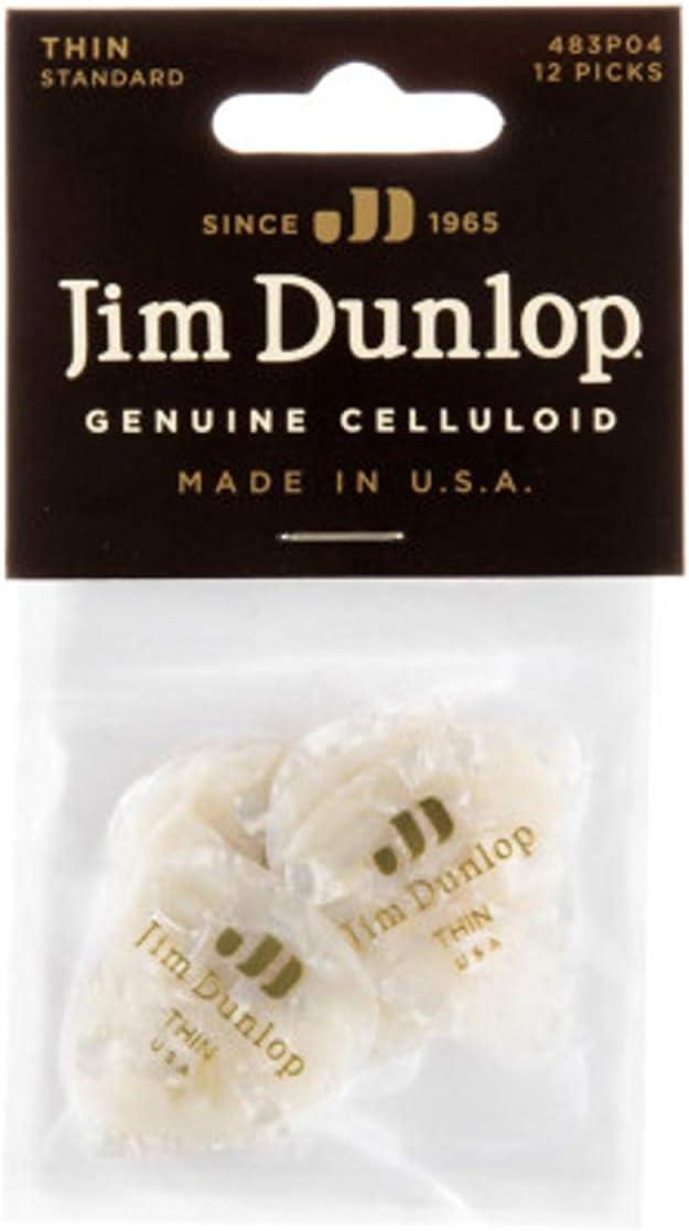 plettri per chitarra in celluloide Dunlop classic confezione da 12 pezzi Pesante Black Pearloid