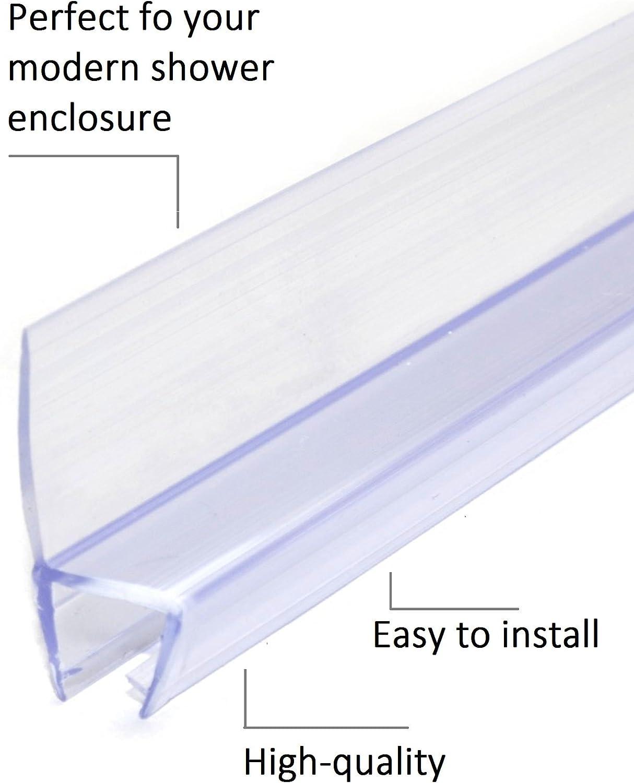 Joint Pour Douche Joint /Étanch/éit/é Douche Joint Porte Douche /Épaisseur de Verre de 4mm /à 6mm Joint de Rechange Joints Douche 003 50cm