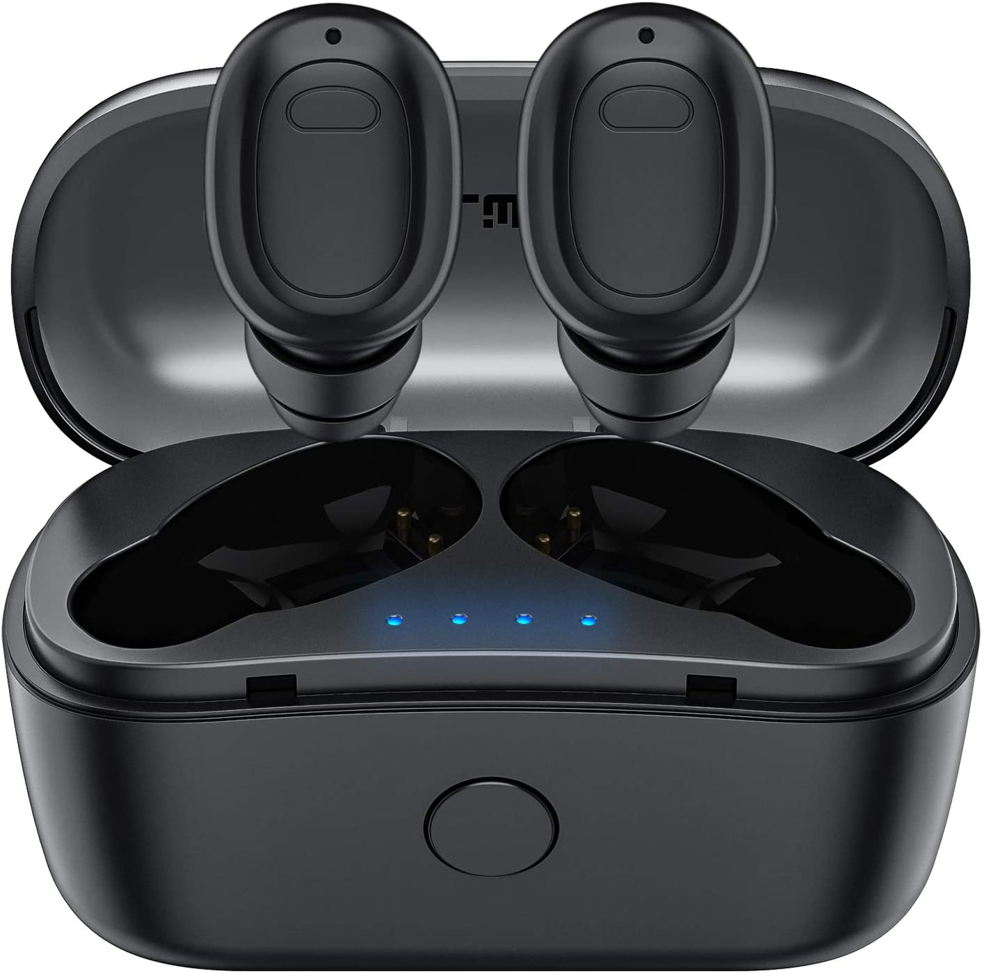 True Wireless Earbuds, Falwedi 6H Continuous 40H Cyclic Playtime 5.0 Bluetooth Earbuds, Binaural Stereo Deep Bass Wireless Earbuds with 2 Mic and Charging Case for iPhone and Android