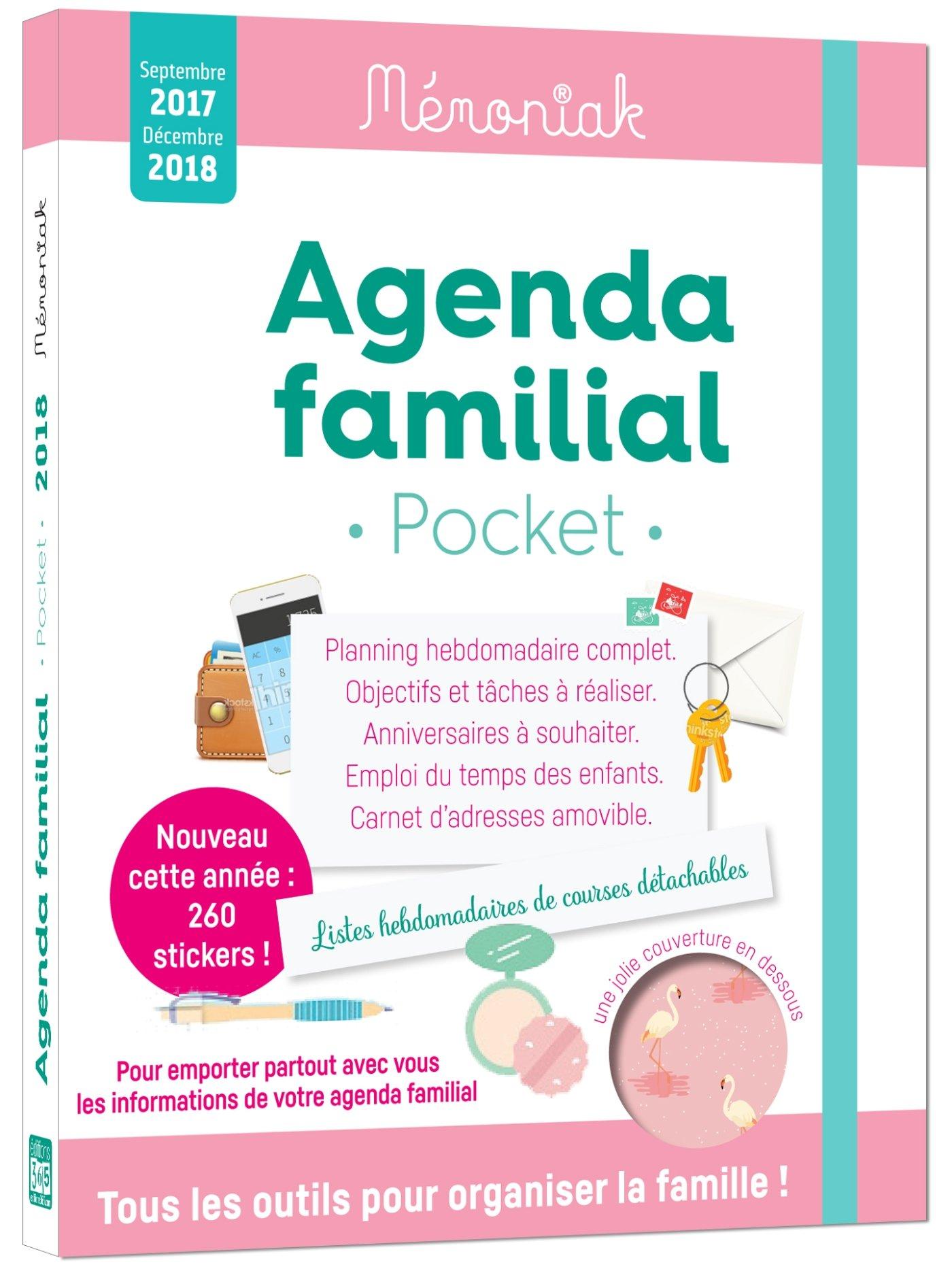 Agenda familial Mémoniak pocket 2017-2018: Amazon.es ...