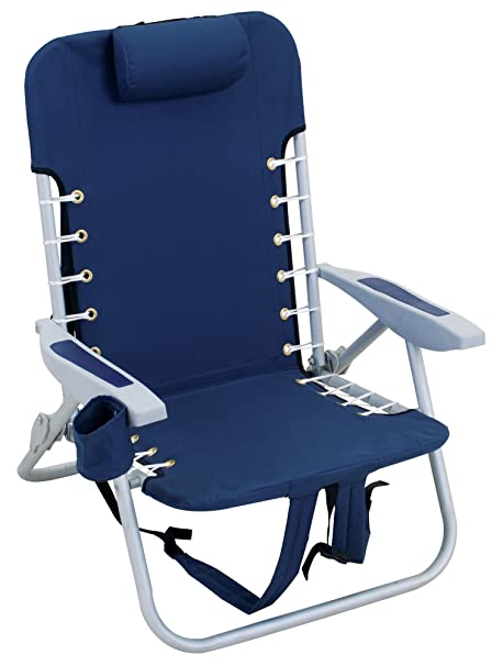 Bon Rio Beach Lace Up Suspension Folding Beach Chair, Blue
