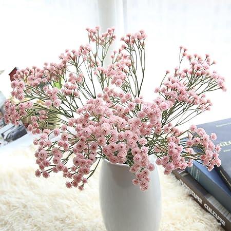 Igemy artificial silk fake flowers babys breath floral wedding igemy artificial silk fake flowers babys breath floral wedding bouquet party decors pink mightylinksfo