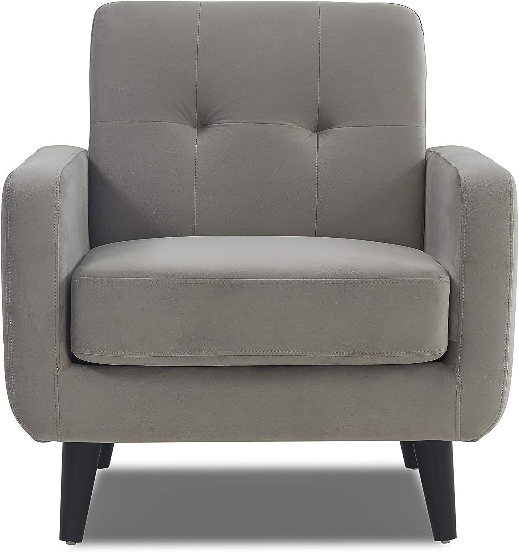 WeDoSofas Oslo Soft Velvet Chair (Silver) Silver