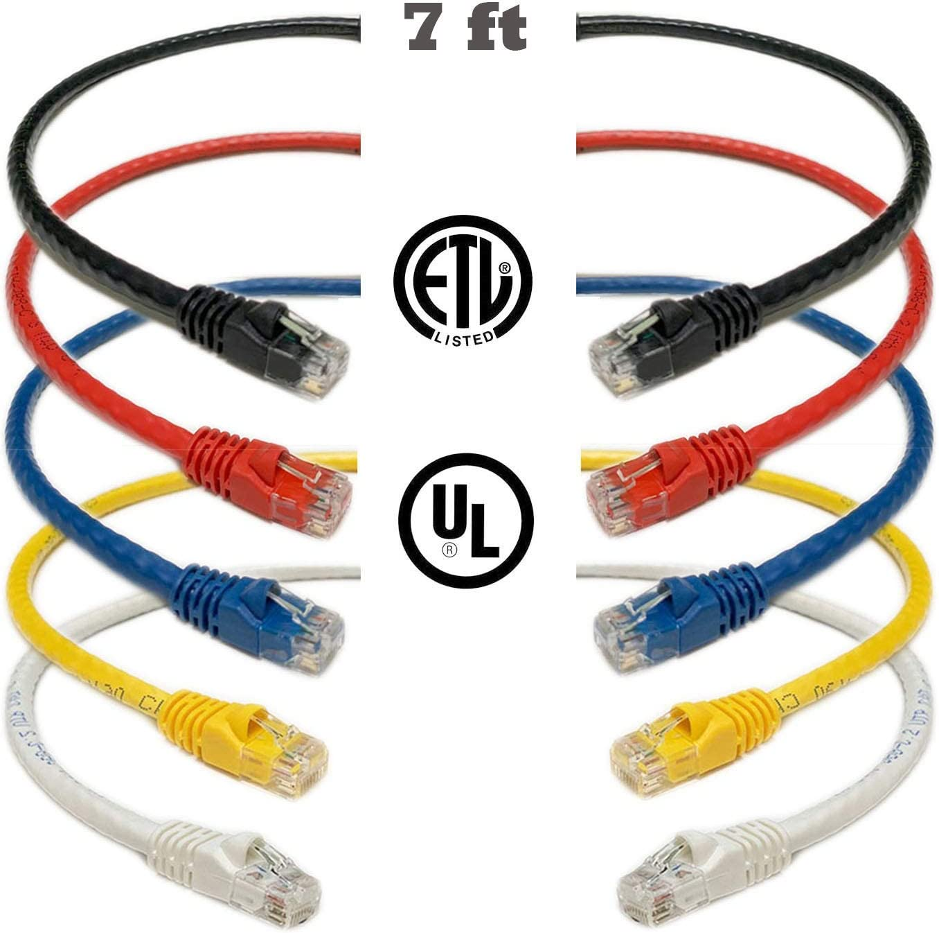 AVU Cat6 Snagless//Molded Boot Ethernet Patch Cable-Pick Size//Color 0.5/'-25/'