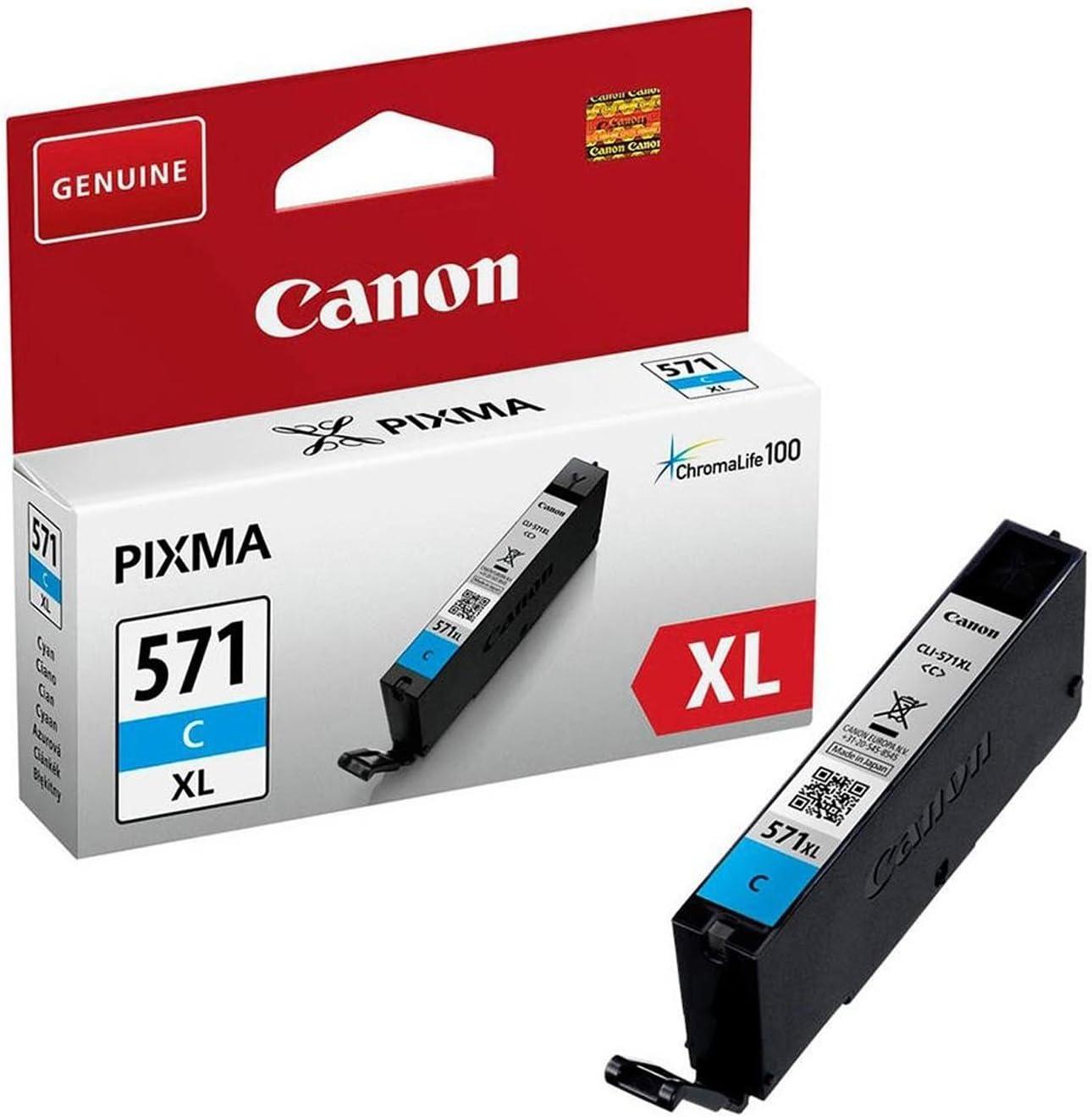 Emballage carton Canon CLI-571XL Cartouche C Cyan XL